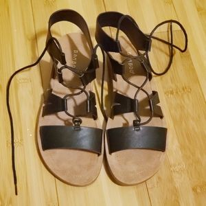Gladiator style lace up sandals